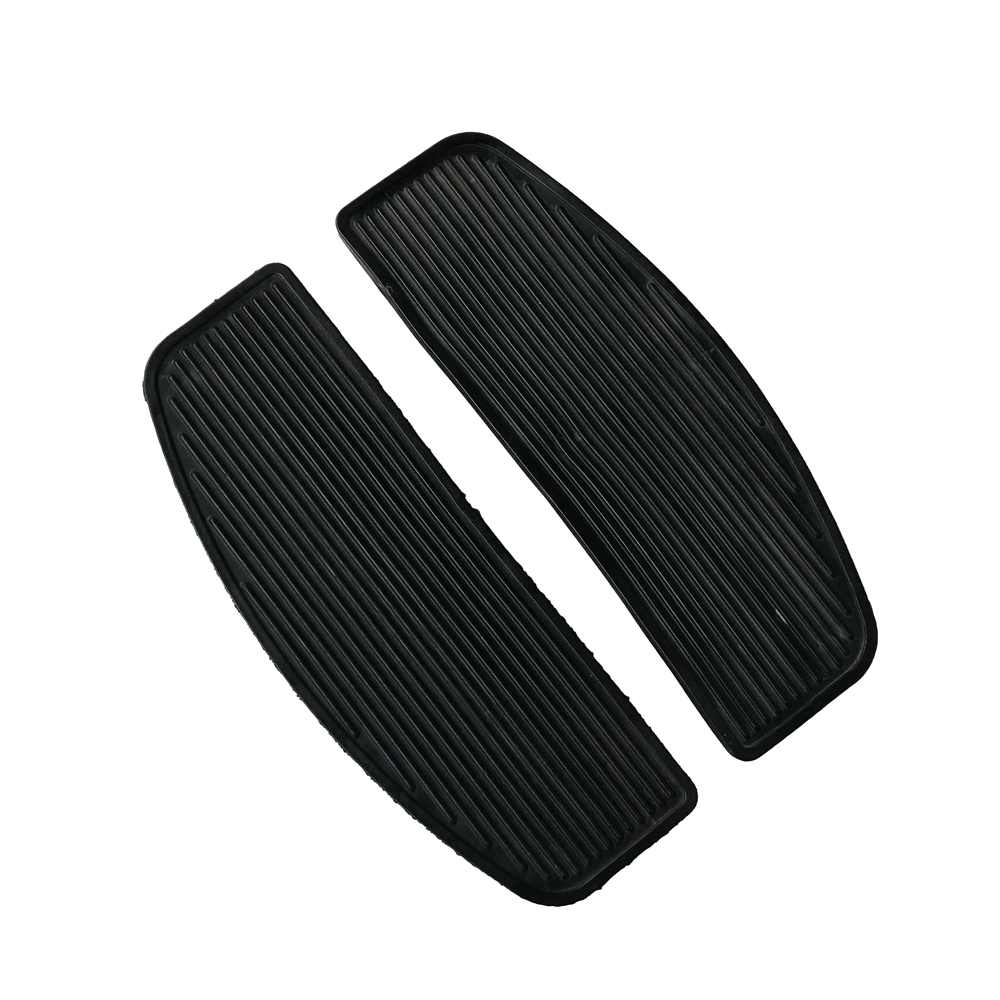 Motorcycle Front Non-slip Rubber Floorboard Case For Harley Touring Road King & Electra Glide Passenger Footboard FloorboardPads