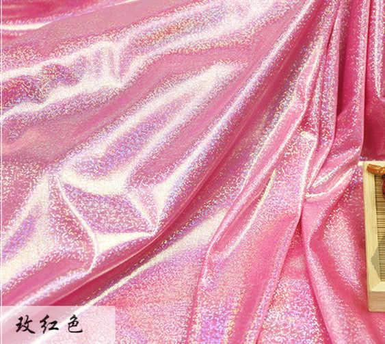 Latin Fluorescerende Stof Laser Stretch Gebreide Kleurrijke Glanzende Stof Podium Bruiloft Decor Tissue Voor Naaien pop doek 150 cm * 50 cm