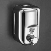 Soap Dispenser Stainless steel hand foam soap dispenser box hotel bathroom kitchen wall mounted sanitizer bottle