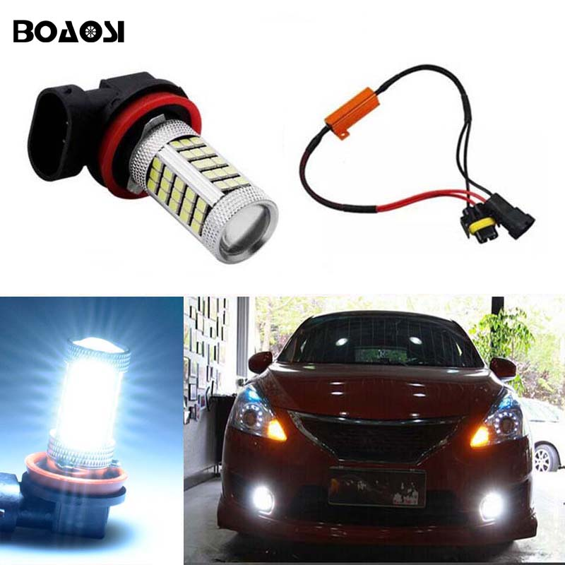 BOAOSI 1x 9006/HB4 Car LED Light Bulb Auto Fog Light Lamps No Error For Lexus GS300 LS430 IS200 RX300 Old Regal 1pcs canbus error free t15 car led backup reverse lights lamps for lexus ct es gs gx is is f ls lx sc rx is250 rx300 is350 is300