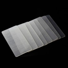 1PC Plastic 6*12cm Nail Stamping Plates Lace 14 Design Transparent Stamp Plate DIY Template Image Stencils JKL-BC