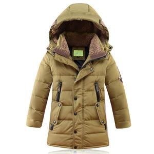 Image 3 -  30 תואר Down מרופדת ברווז מעילי החורף של ילדי בגדי ילדים 2017 בני עיבוי מעיל חם גדול הלבשה עליונה