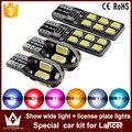 Noite senhor 4 pcs canbus t10 w5w lâmpadas clearance luzes da placa de licença luz kit para mitsubishi lancer carro especial do carro acessórios