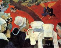 paintings of Paul Gauguin Jacob Wrestling the Angel artwork Landscape art High quality Hand painted