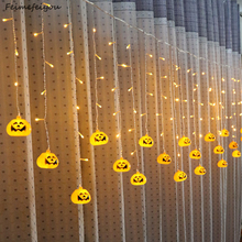 Feimefeiyou 3.5m 96 leds clampada led pumpkin Fairy Lights  LED Curtain String Lights Indoor Party Decor led strip