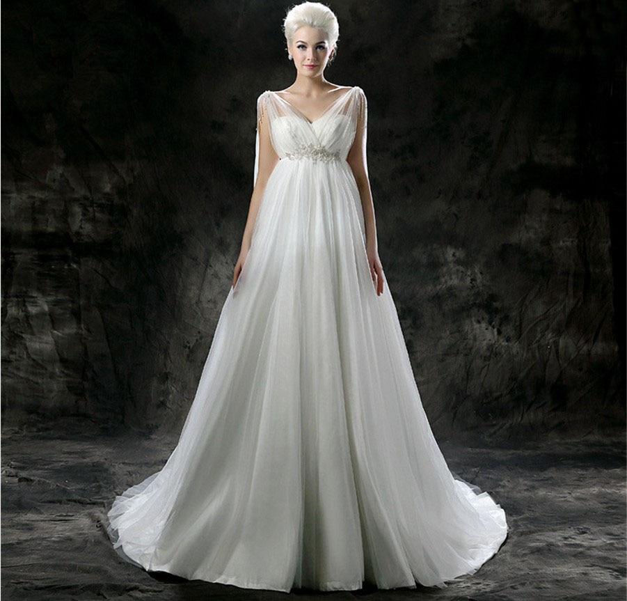 Empire Wedding Dress: Popular Empire Waist Plus Size Wedding Dress-Buy Cheap