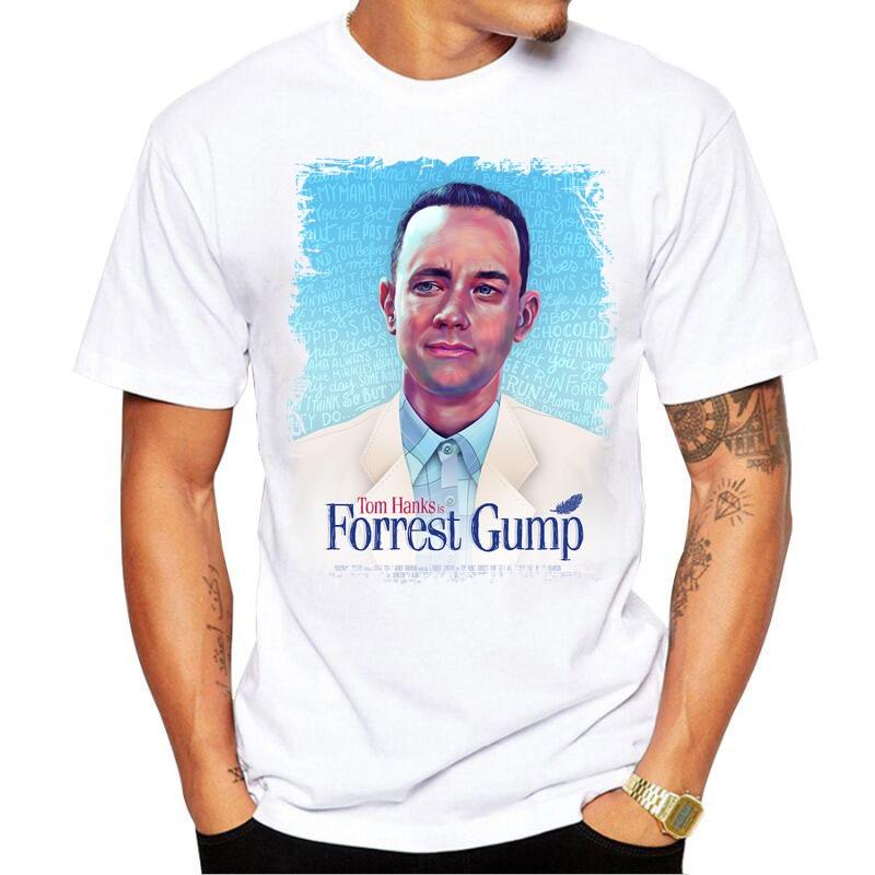 Free shipping Forrest Gump T Shirt Men Women Casual Tees T-Shirt Movies film camiseta casual tees