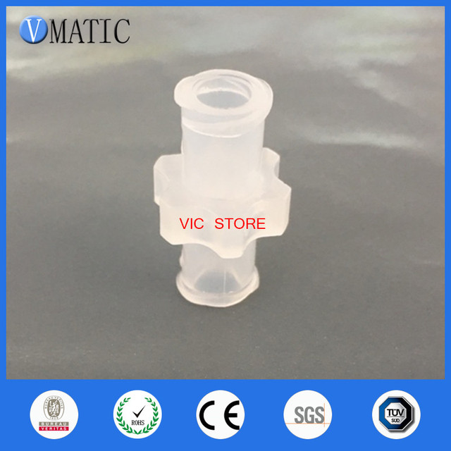 Free Shipping 5Pcs Female Luer Lock Syringe Fitting Connector 10 Pk (Polyprop)