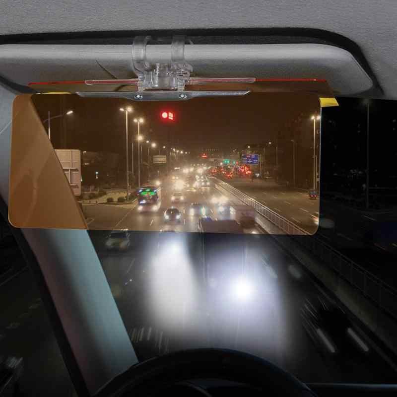 1 قطعة سيارة الشمس قناع HD مكافحة أشعة الشمس المبهر حملق يوم للرؤية الليلية القيادة مرآة UV أضعاف الوجه أسفل واضح عرض سيارة التصميم