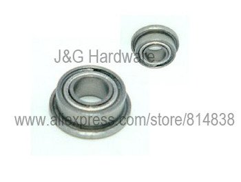 MF126ZZ Miniature Flanged Bearing 6x12x4 Shielded Ball Bearings 100 pieces