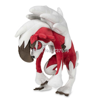 New Anime Embroidered Eyes and A Toothy Grin Alolan Lycanroc Midnight Form Plush Doll 10 inch Soft Animals Toys Kids Gifts