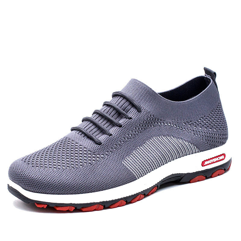 Men Socks Shoes Black Flying Weaving Sneakers Mens Shoes Casual Running Shoes Spring New Lace Up Men Shoes Man Zapatos De Hombre in Men 39 s Casual Shoes from Shoes