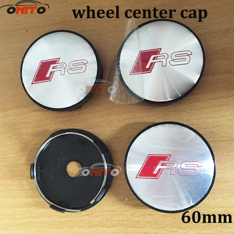 20pcs 56mm 60mm RS Sline Logo Wheel Center Caps Wheel Hub Cap for AUDI A1 A2 A3 A4 A5 A6 A7 A8 Q1 Q3 Q5 Q7 TT R8 S RS