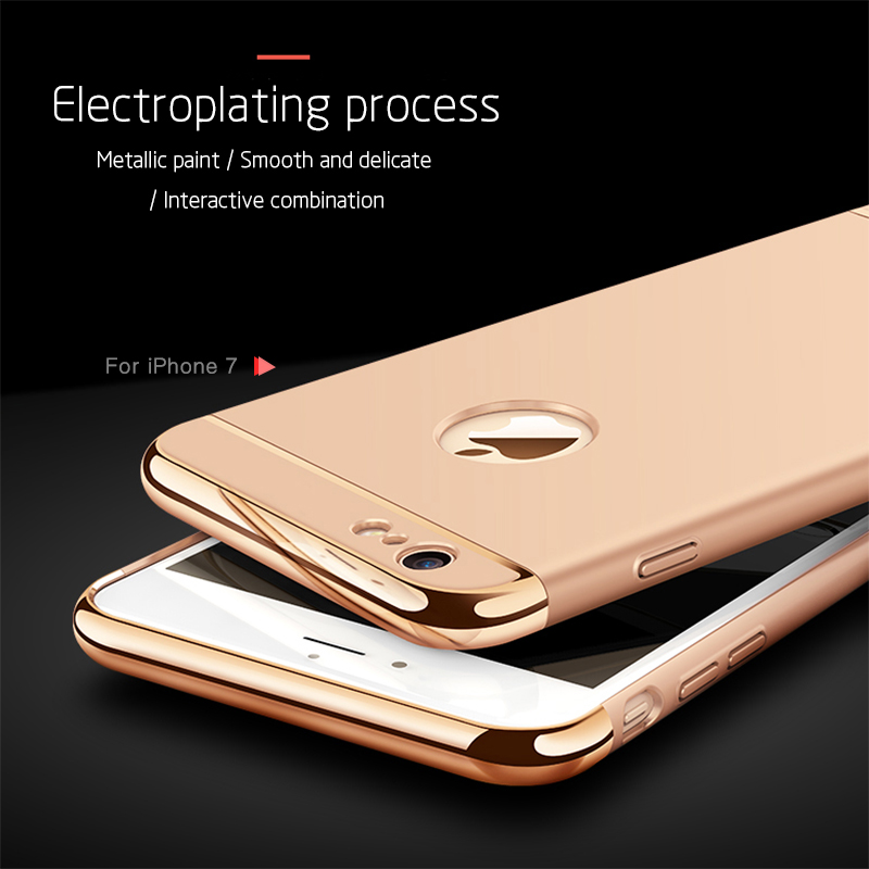 3 in 1 Luxury Hard Case Cover For All IPhone Model 4