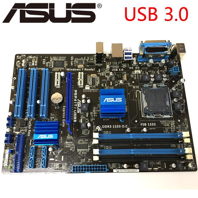 Asus P5P41T/USB3 Desktop Motherboard G41 Socket LGA 775 Q8200 Q8300 DDR3 8G ATX UEFI BIOS Original Used Mainboard On Sale-in Motherboards from ...