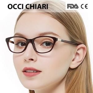 Image 3 - Occi Chiari Hoge Kwaliteit Italië Designer Metalen Versieren Brilmontuur Voor Vrouwen Optische Frame Glazen Handgemaakte Nai