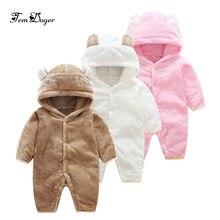 ff4a9eb84 Tem doger 2017 winter baby rompers newborn baby boy girls flannel jumpsuit  infant girl cartoon rompers baby warm fleece snowsuit
