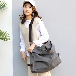Image 5 - KVKY Brand Women Handbags Ladies High Quality Casual Female Tote Messenger Big Bag Shoulder Bag Large Canvas Bolsos