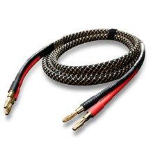 Cable de Audio de altavoz HiFi FIHI B1, Cable de Audio con conector Banana chapado en oro, amplificador de cobre sin oxígeno, Cables de Cable Speakon