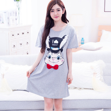2016 New Nightgowns Women Bugs Bunny Modal Nightdress Lovely sleep Sleepshirts Plus size 3XL