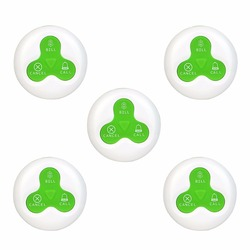 5pcs Waiter Call Button 433MHz Waterproof Call Bell Pager ASK RF For Wireless Restaurant Ordering System Catering Equipment