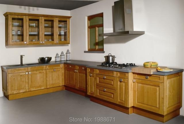 En forma de L madera de arce gabinetes de cocina diseños de cocina ...