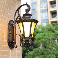 Outdoor Wall Lamps European style outdoor waterproof courtyard door American villa garden post lamp balcony LU807112