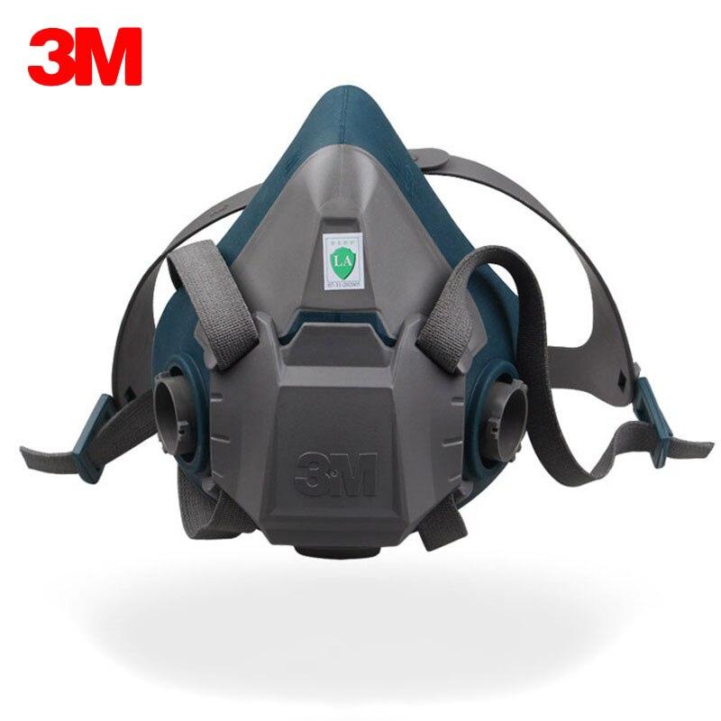 3 M 6502 Respirateur Masque Demi-Masque de Haute Qualité Silicone Peinture Pulvérisation Visage de Masque À Gaz Pour 3 M 6000/2000 série filtre Utiliser