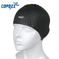 COPOZZ Silicone Waterproof Men Women   Swimming   Cap Swim for Long Hair Hat Cover Ear Bone Pool