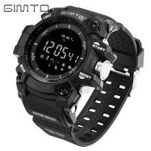 Digital Sport Watch Men GIMTO Brand Military Pedometer barometer font b Smartwatch b font Stopwatch Diving