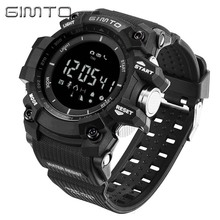 Digital Sport Watch Men GIMTO Brand Military Pedometer barometer Smartwatch Stopwatch Diving Male Clock LED relogio masculino