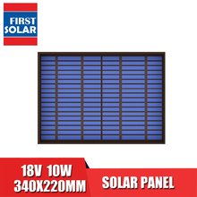 18VDC 556mA 10 ואט 10W שמש פנל סטנדרטי PET polycrystalline הסיליקון תשלום עבור 12V סוללה תשלום מודול מיני תאים סולריים