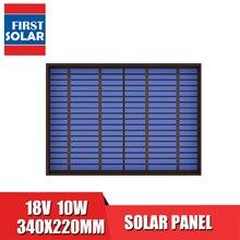 Módulo de carga de batería de silicio policristalino, 18VDC, 556mA, 10 vatios, 10W, Panel Solar estándar, PET, para Mini célula Solar