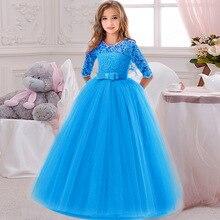 Кружевное платье с вышивкой для девочек, держащих букет невесты на свадьбе, на день рождения, банкет элегантные вечерние платья для девочек, платья для выпускного бала