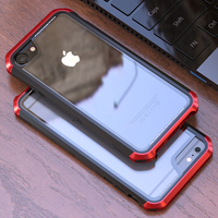 Dual Color Bumper Case For Apple IPhone 6 S Case Plus 6Plus Transparent Cover Aluminum Metal