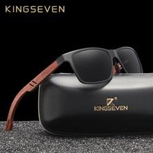 KINGSEVEN 手作り Handicrafted100 木製の男性の偏光サングラスの女性ミラーレンズサングラス駆動眼鏡