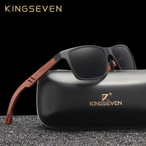 Image 1 - KINGSEVEN Handmade Bubinga Wooden Mens glasses Polarized sunglasses Women Mirror Lens Sun Glasses Driving Eyewear