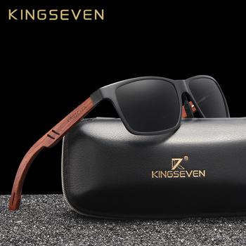 KINGSEVEN ręcznie Bubinga drewniane okulary męskie spolaryzowane okulary przeciwsłoneczne damskie lustro obiektyw okulary przeciwsłoneczne jazdy okulary tanie i dobre opinie Bez oprawek Dla dorosłych UV400 Antyrefleksyjną Poliwęglan B5507 58MM 39MM Men s Glasses You can choose a leather box or a wooden box