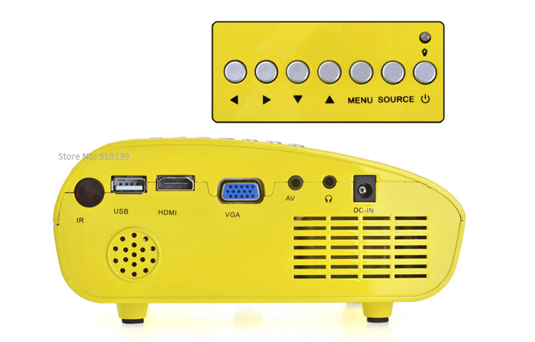 mini projector yellow pic 5