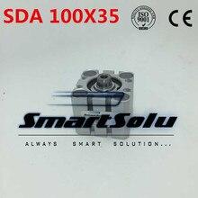 Бесплатная Доставка 100 мм Диаметр 35 мм Ход Пневматический Compact Air Цилиндра ПДД 100X35