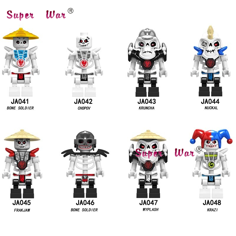 50pcs Model Building Blocks Series Action Bone Frakjaw Garmadon Skeleton toys children