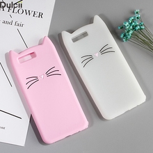 Phone Cases for Huawei P10 P9 P10 lite Shell Capa Coque 3D Moustache Cat Silicone Cover for Huawei Honor 9 Mobile Phone Bag-Pink
