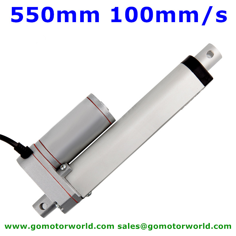 Waterpoof industry Actuator Linear 12V 24V 550mm Stroke 1600N load 100mm/s speed linear actuatorWaterpoof industry Actuator Linear 12V 24V 550mm Stroke 1600N load 100mm/s speed linear actuator