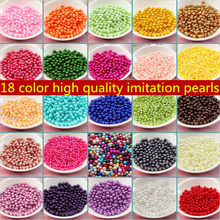 Gratis pengiriman Pilih 18 Warna 6mm 500 pcs/lot ABS Imitasi Pearl Beads Putaran Spacer Beads Fashion Perhiasan Kalung DIY membuat(China)