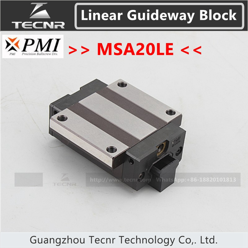 Taiwan PMI linear guideway slide carriage block MSA20LE slider for CO2 laser machine cuba what everyone needs to know 3rd ed