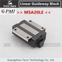 Taiwan PMI linear guideway slide carriage block MSA20LE slider for CO2 laser machine