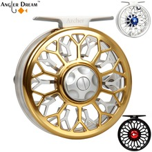 3/4 5/6 7/8WT Fly Fishing Reel CNC Machined 6061 T6 Best Grade Aluminum Gold Black Silver Large Arbor Fly Fishing Reel