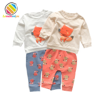 Baby Fall Clothing Sets Cotton T Shirts Long Pants Cute Fox Jumpsuits Boys Girls Sweatshirt Coat