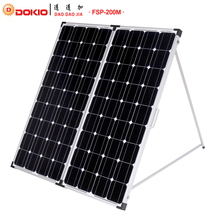 Dokio Marke 200 Watt (2 Stücke x 100 Watt) Faltbare Solar Panel China + 10A 12 V/24 V Controller Leicht zu Tragen Zelle/System Charger Solar Panel