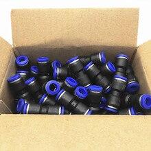 100 pièces/paquet raccords pneumatiques en polyuréthane je tape 2 voies connecteur droit pour 4mm 6mm 8mm 10mm 12mm tube